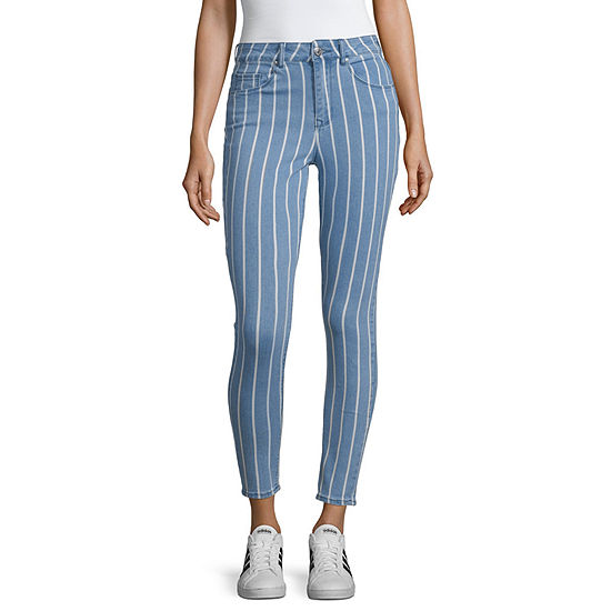 Almost Famous Womens High Waisted Skinny Cropped Jean - Juniors