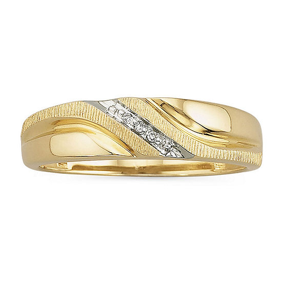 Mens Diamond Accent Band Ring 10k Gold Color Yellow Gold Jcpenney