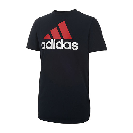adidas Boys Crew Neck Short Sleeve Graphic T-Shirt - Big Kid