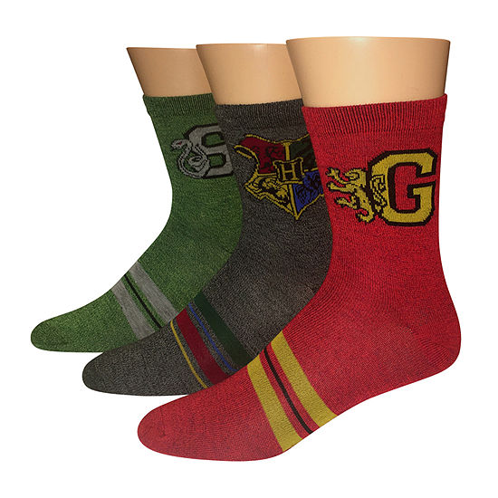 3 Pair Harry Potter Quarter Socks-Mens