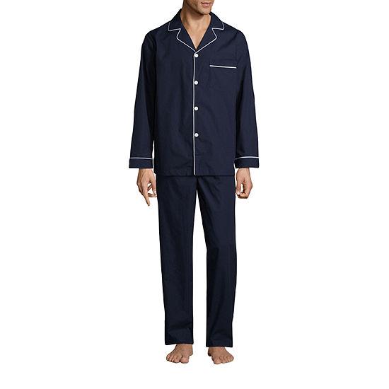 Stafford® Men's  Broadcloth Woven Pajama Set