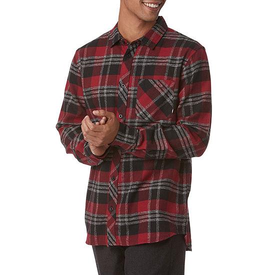 Vans Mens Long Sleeve Button-Front Shirt