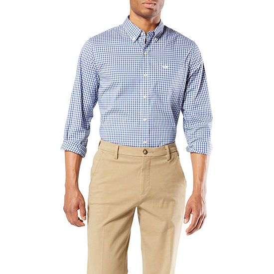 Dockers Mens Long Sleeve Button-Down Shirt