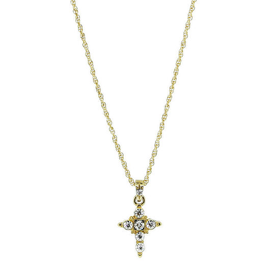 1928 Religious Jewelry 16 Inch Rope Cross Pendant Necklace