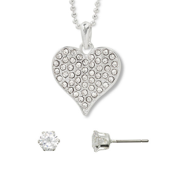 Mixit Hypoallergenic 2-pc. 16 Inch Heart Necklace Set