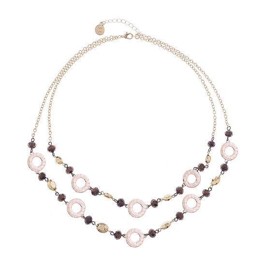 Liz Claiborne 21 Inch Cable Round Collar Necklace