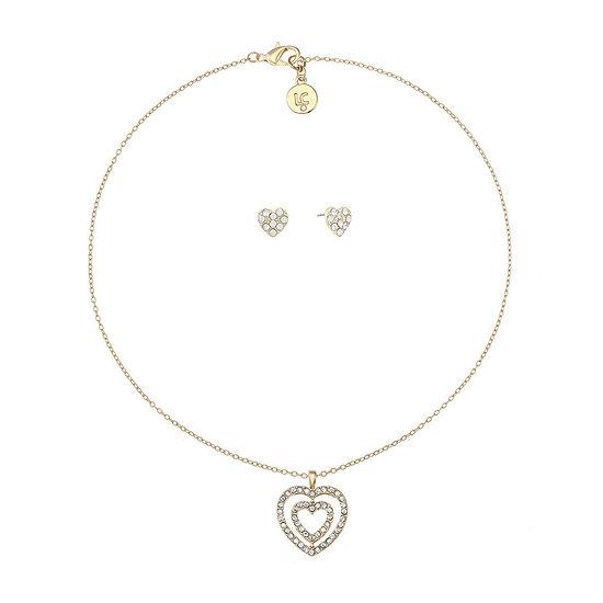 Liz Claiborne 2-pc. Heart Jewelry Set
