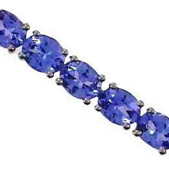 LIMITED QUANTITIES! Genuine Blue Tanzanite Sterling Silver 7.5 Inch Tennis Bracelet