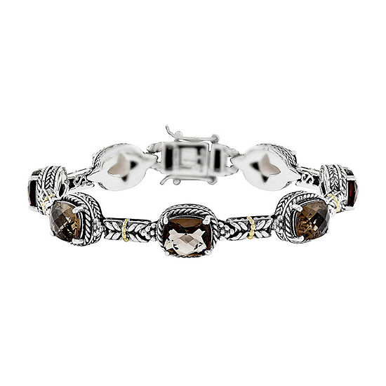 Shey Couture Genuine Smoky Quartz 14K Gold Over Sterling Silver Bracelet