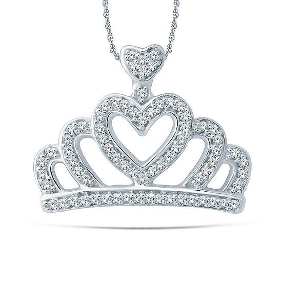 1/6 CT. T.W. White Diamond 10K Gold Pendant Necklace