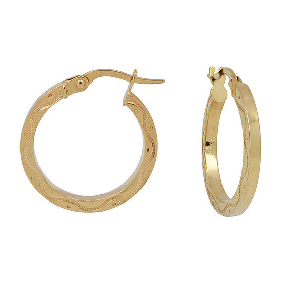 Made in Italy 14K Yellow Gold Diamond-Cut 20mm Hoop Earrings