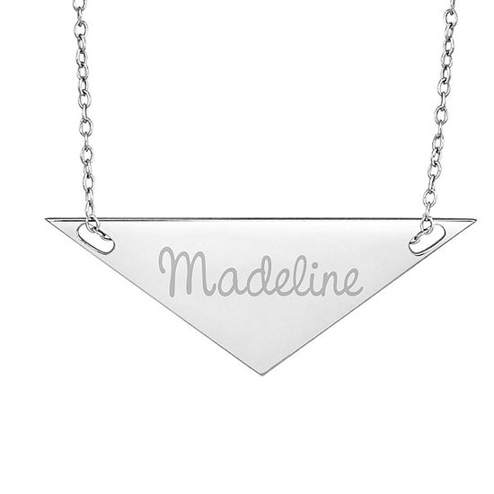 Personalized Sterling Silver Name Triangle Necklace