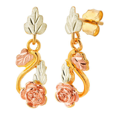 Landstroms Black Hills Gold 10K Gold Drop Earrings