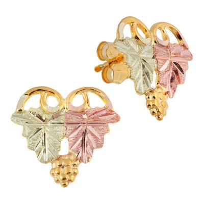 Landstroms Black Hills Gold 14K Gold Stud Earrings