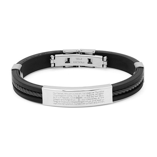 Steeltime Stainless Steel 8 1/2 Inch Solid Id Bracelet