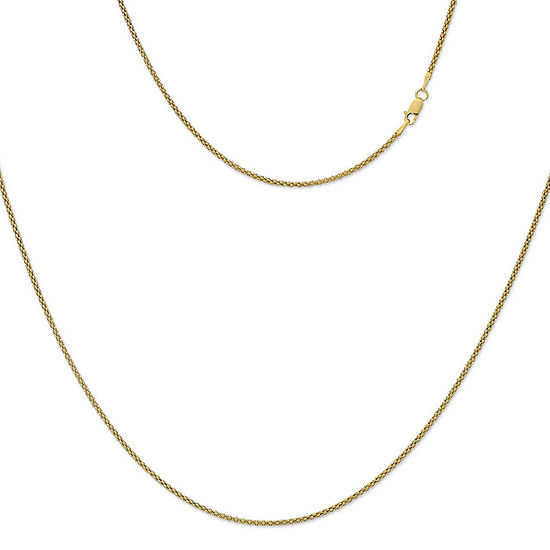Made in Italy 24K Gold Over Silver Sterling Silver 24 Inch Solid Perfectina Chain Necklace