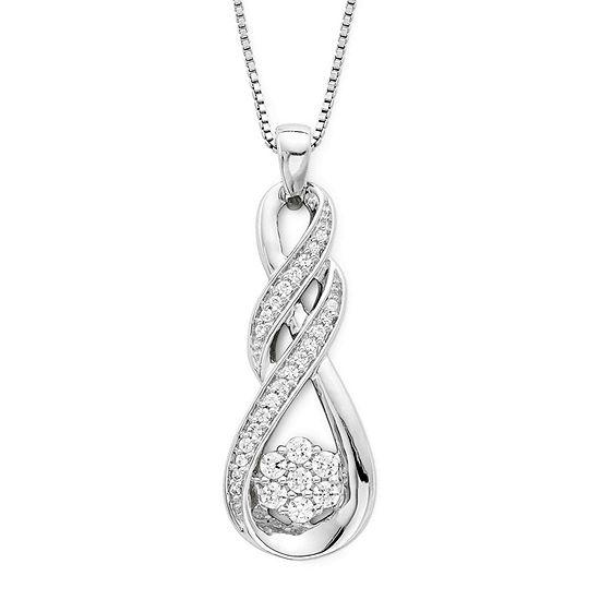 diamond blossom 1/4 CT. T.W. Diamond Swirl Pendant Necklace