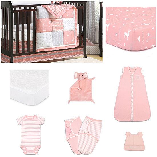 The Peanut Shell Woodland Pixie Crib Bedding Set