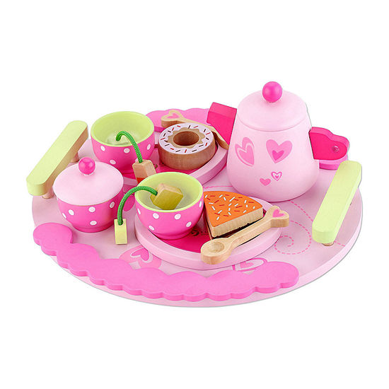 Classic Toy Toddler Wooden Afternoon Tea Playset