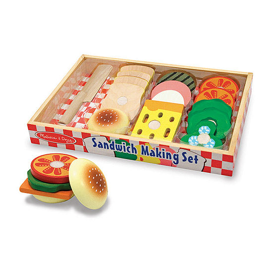 Melissa & Doug Play Food Sandwich Making Set