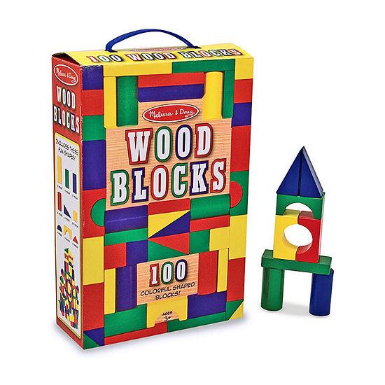 Melissa & Doug 100-Pc Wood Blocks Set