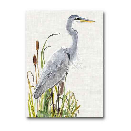 Courtside Market Waterbirds Cattails I Canvas Art