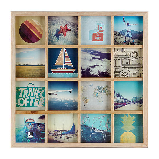 Umbra Gridart Photo Display Natural 16 Collage Frame