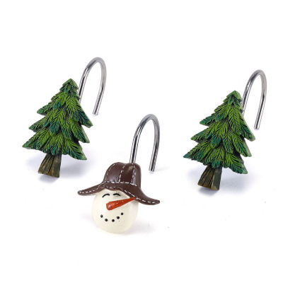 Avanti Snowmen Gathering Shower Curtain Hooks