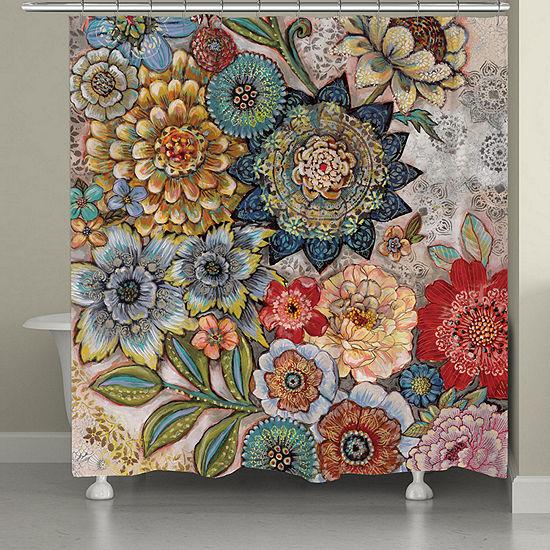 Laural Home Boho Bouquet Shower Curtain