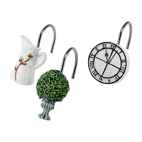 Avanti Modern Farmhouse Shower Curtain Hooks