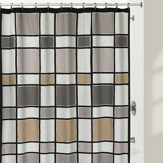 Creative Bath Color Block Shower Curtain