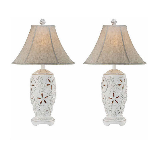 Seahaven Sandollar Table Lamp Set