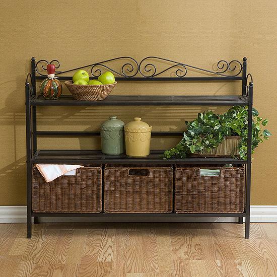 Southlake Furniture 3-Drawer Bakers Rack