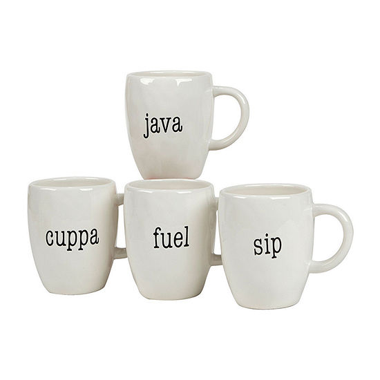 Certified International Just Words 4-pc. Coffee Mug