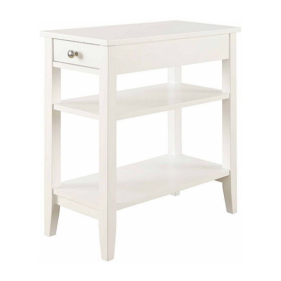 American Heritage 3-Tier End Table with Drawer