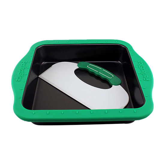 Perfect Slice Cake Pan With Tool & Silicone Sleeve Square