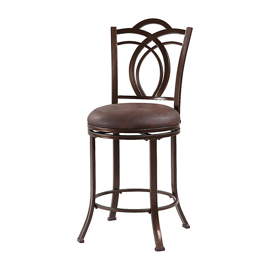 Calif Metal Upholstered Bar Stool