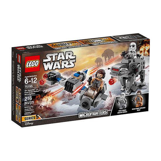 LEGO Star Wars Ski Speeder vs. First Order Walker Microfighters 75195