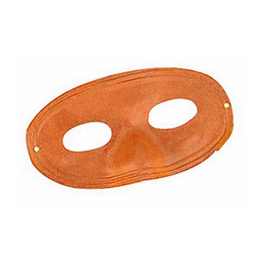Orange Domino Mask Dress Up Accessory