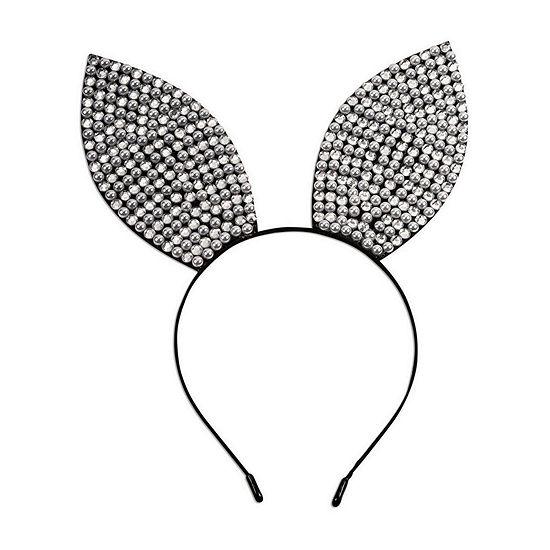 Rhinestone & Pearl Bunny Ears Headband