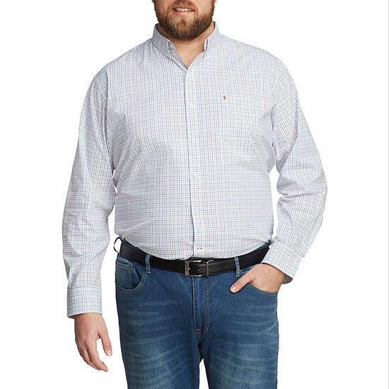 Men/'s IZOD Big /& Tall Long Sleeve Button Front Shirt