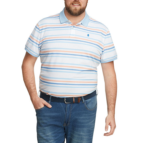 IZOD Big and Tall Mens Cooling Short Sleeve Polo Shirt