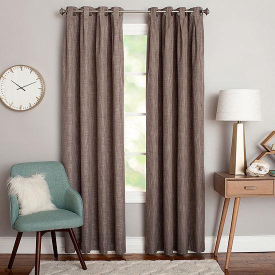Miller Curtains Claude Energy Saving Blackout Grommet-Top Single Curtain Panel