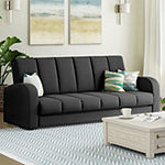 Sorkin Curved Slope-Arm Convertible Sofa