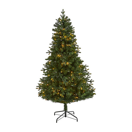 Nearly Natural 6 Foot 6ft. Vermont Fir Artificial Christmas Tree With 250 Clear Led Lights Fir Pre-Lit Christmas Tree
