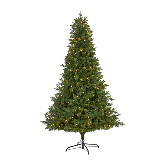 Nearly Natural 7 Foot 7ft. Vermont Fir Artificial Christmas Tree With 350 Clear Led Lights Fir Pre-Lit Christmas Tree