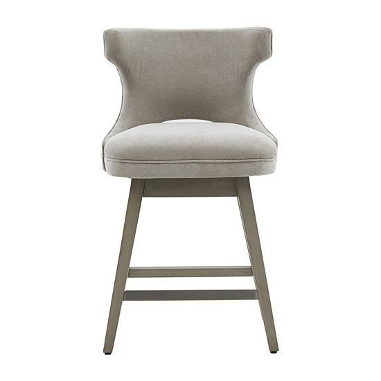 Madison Park Janet Dining Collection Counter Height Upholstered Swivel Bar Stool