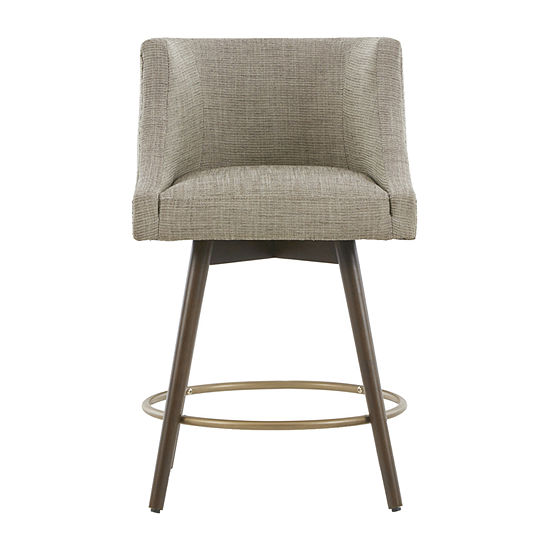 Madison Park Quarry Dining Collection Counter Height Upholstered Swivel Bar Stool