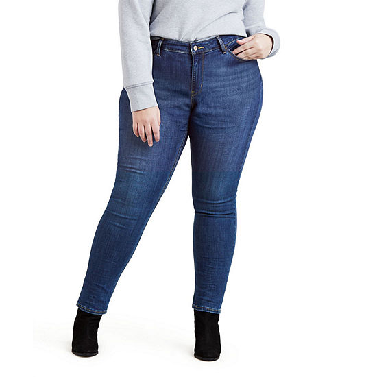 Levi's - Plus Womens Mid Rise 711 Skinny Fit Jean