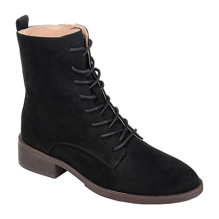 History of Victorian Boots & Shoes for Women Journee Collection Womens Vienna Block Heel Combat Boots 7 12 Medium Black $72.00 AT vintagedancer.com